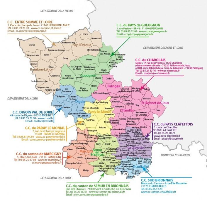 Vos contacts Pays Charolais Brionnais Bourgogne Sud Activ